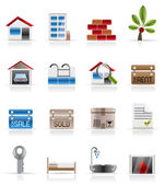 Realistic Real Estate icons — Stock Vector