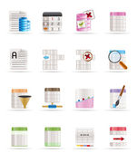 Database and Table Formatting Icons — Stock Vector