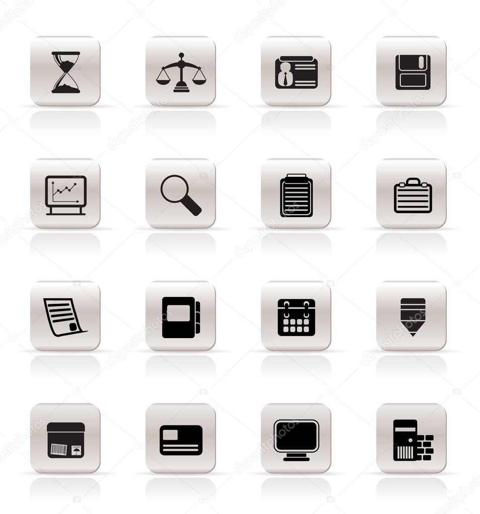 Simple Business and office  Icons  vector icon set — Stock Vector #4999663