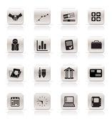 Icone semplici affari e ufficio — Vettoriale Stock