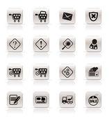 Online Shop Icons — Vector de stock