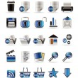 25 Realistic Detailed Internet Icons - Stock Vector