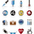 Royalty-Free Stock Vector Image: Realistic  medical themed icons and warning-signs