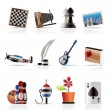 Hobby, Leisure and Holiday Icons - Image vectorielle