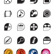 Simple Phone  Performance, Internet and Office Icons — Imagen vectorial