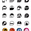 Simple Real Estate icons — Stock Vector
