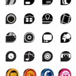 Internet, Computer and mobile phone icons — Vettoriali Stock
