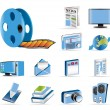 Media and information icons - Stock Vector