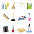 Home objects and tools icons — Stock Vector #5012718