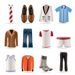 Man fashion and clothes icons  — 图库矢量图片