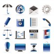 Business and Office internet Icons — Stock vektor