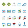 Royalty-Free Stock Vector Image: Application, Programming, Server and computer icons