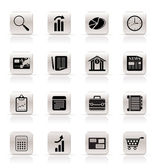 Business and Office Internet Icons — Stock Vector