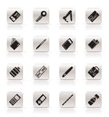 Simple Vector Object Icons — Stock Vector