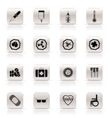 Simple medical themed icons and warning-signs — Stock Vector