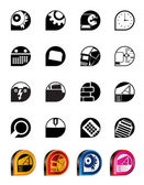 Computer, mobile phone and Internet icons - Vector Icon Set — Stock Vector