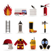 Fire-brigade and fireman equipment icon — Stock Vector