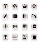 Simple Business and Office internet Icons — Stock Vector