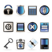 Security and Business icons — Stock Vector