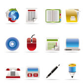 Business and Office tools icons — Stock Vector