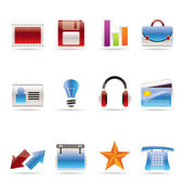 Office and business icons — Stock Vector