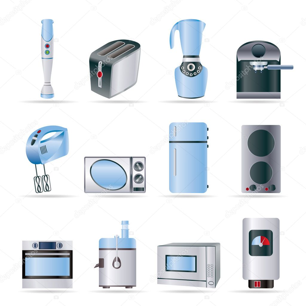 Kitchen And Home Equipment Icons Stock Vector Stoyanh 5012765