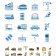 Industry and Business icons - Stock Vector