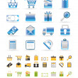 Online shop icons - Stock Vector