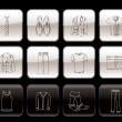 Royalty-Free Stock Vektorgrafik: Man fashion and clothes icons