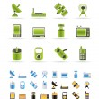 Technology and Communications icons — Stock Vector