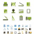 Print industry Icons — Stock Vector