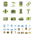 Travel, trip and holiday icons — Stock Vector