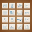 Bank, business, finance and office icons - Stock Vector