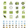 Phone  performance, internet and office icons -  
