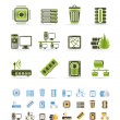 Computer and website icons — Stock Vector