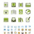 Mediand information icons — Stock Vector #5029974