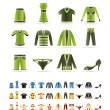 Stock Vector: Clothing Icons
