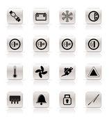 Car Dashboard icons — Stock Vector