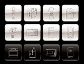 Kitchen and home equipment icons — Stock Vector