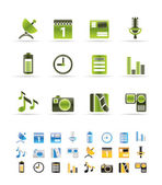Mobile phone performance icons — Stock Vector