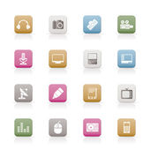 Media equipment icons — Stock Vector