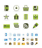 Internet en website pictogrammen — Stockvector