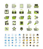 25 Detailed Internet Icons — Stock Vector