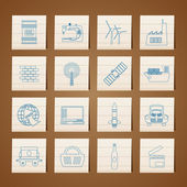 Business and industry icons — Stock Vector