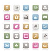 25 icone internet dettagliate — Vettoriale Stock