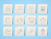 Iconos de página web, internet y computadora — Vector de stock