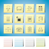 Business, office and firm icons — Stock Vector