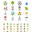 Realistic Ecology icons — Stock Vector