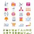 Hotel and Motel objects icons — Stock Vector