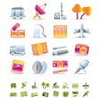 Business and industry icons — Imagen vectorial